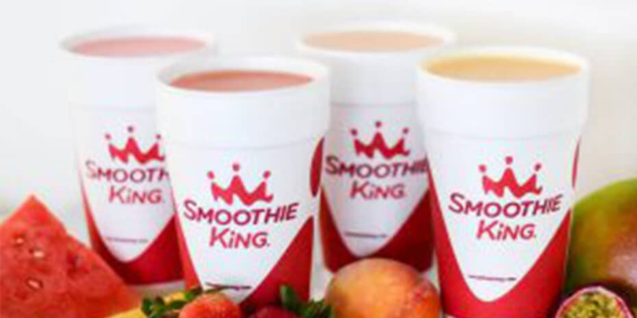 Various smoothies and ingredients