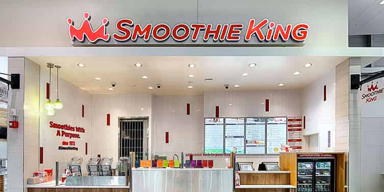 Smoothie King location inside mall