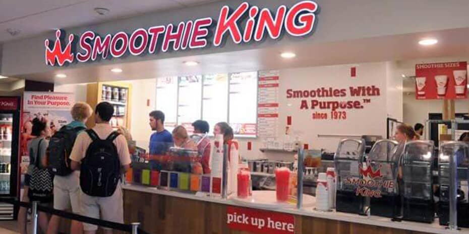 Inside Smoothie King location