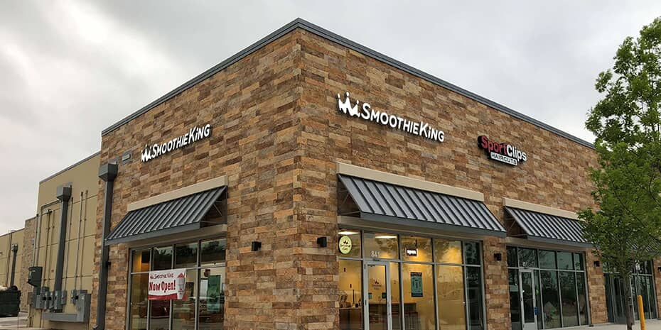 Brand new Smoothie King store exterior