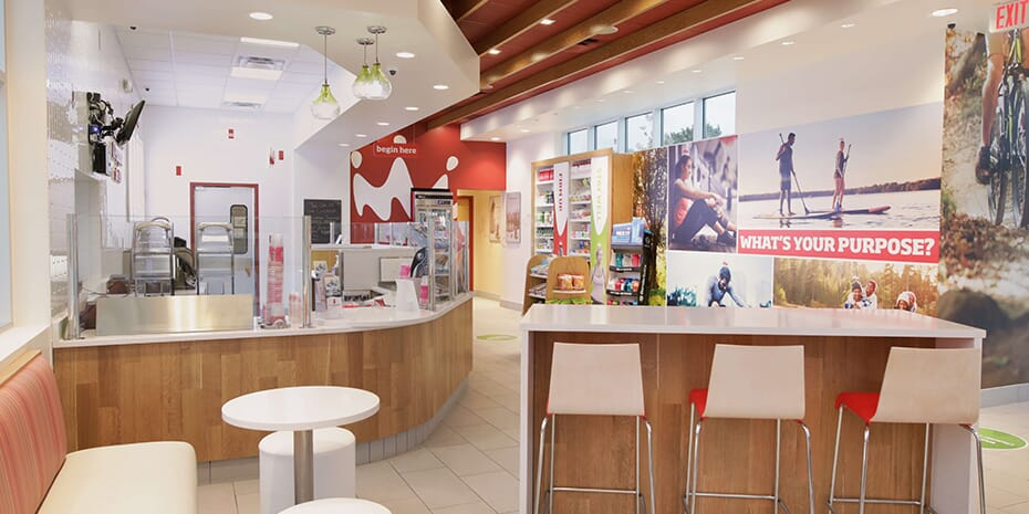 Smoothie King interior of store