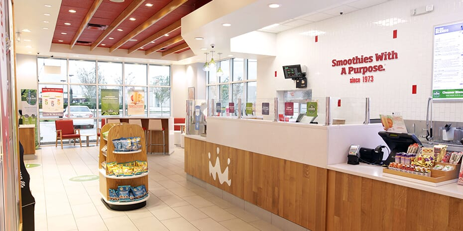 Interior of Smoothie King Store
