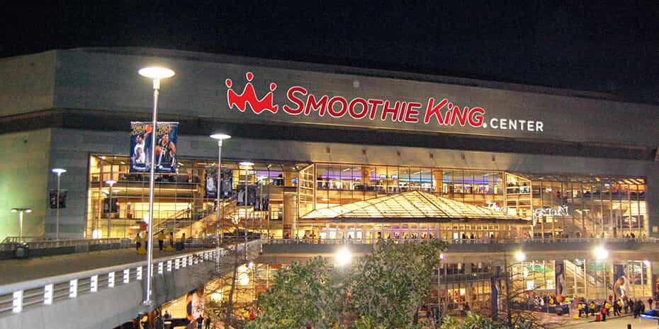 exterior of Smoothie King center