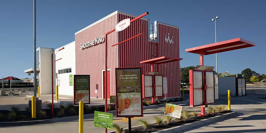 smoothie concept drive-thru at smoothie king
