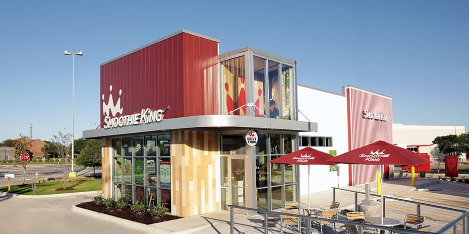 smoothie king franchise external front facade
