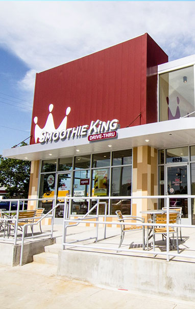 Exterior of Smoothie King Store